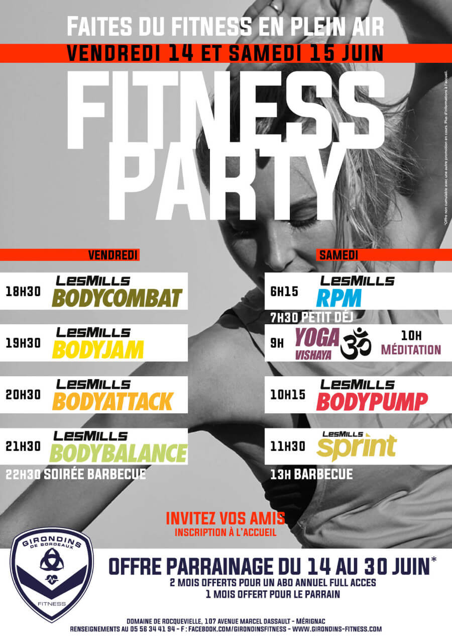Girondins Fitness - Fitness Party Juin 2019